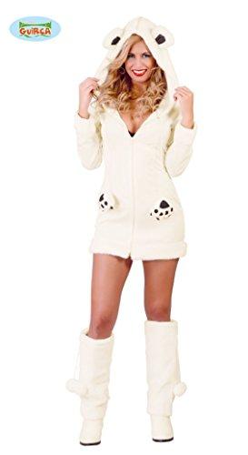 Sexy Eisbär Kostüm für Damen Gr. S-M, -