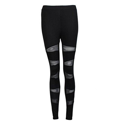 Longra Femmes Engrener Panneaux Yoga sport pantalon (M)