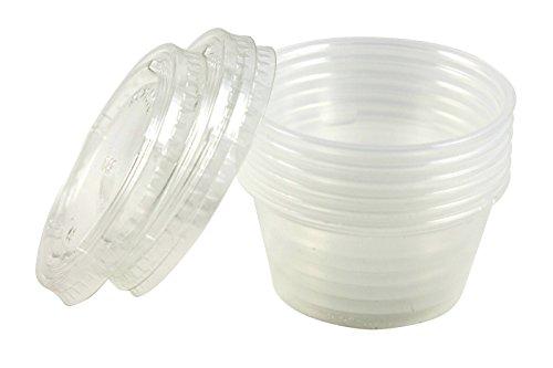Artikel 4U. Einweg Dressing to go Container, Kunststoff, 2oz, 24Zählen, plastik, farblos, 1 Stück