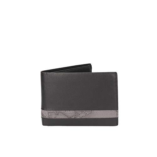 30e77aa316 PORTAFOGLIO UOMO ALVIERO MARTINI PRIMA CLASSE ART. BVW1435400 in pelle nero  con inserto geo grigio