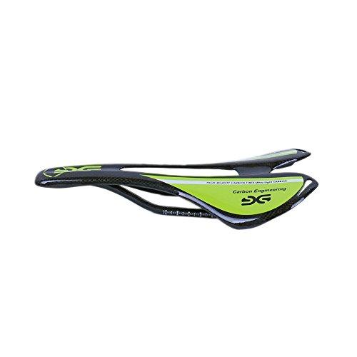ESEN SP Superlight MTB/Rennrad Voll Carbon Hohl Sattel 3k matt/glänzend (Glossy, Green)
