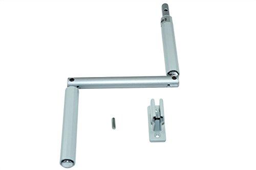 SN-TEC Kurbel/Kurbelstange / Gelenkkurbel für Rolladen und Oberlichter Fenster silber incl. Kurbelhalter (Jalousien Für Stange)