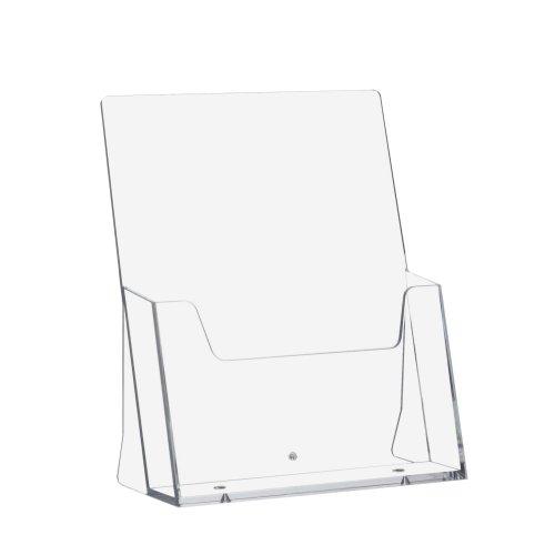 5 Stück DIN A5 Prospekthalter/Prospektständer / Tischprospekthalter/Tischaufsteller im Hochformat transparent