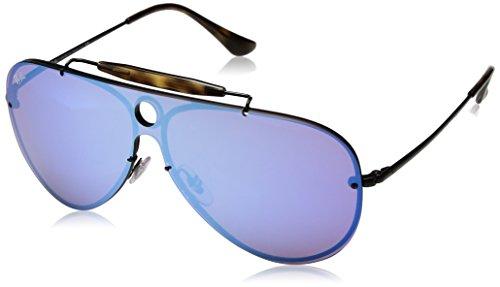 Ray-Ban RAYBAN Unisex-Erwachsene Sonnenbrille 3581n Demiglos Black/Darkvioletmirrorblue, 32