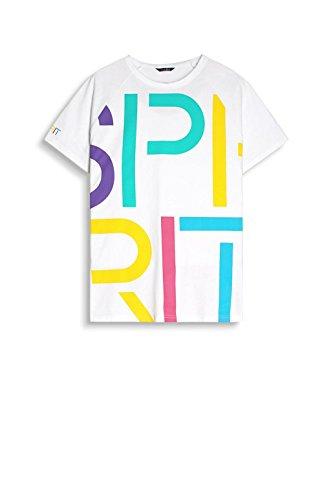 ESPRIT Herren T-Shirt 057ee2k042 Weiß (White 100)