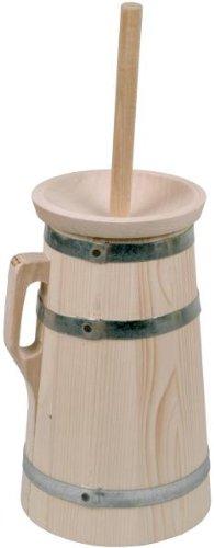 Hofmeister Holzwaren Butterfass, 5 Liter, aus Fichtenholz