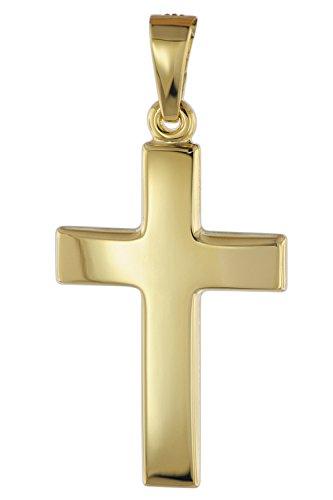 trendor Kreuz Anhänger für Damen und Herren 585 Gold 21 mm 08610