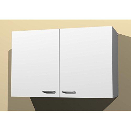 Küchen Hängeschrank in verschiedenen breiten Start Melamin weiß/weiß (80breit)