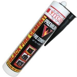 Ciment réfractaire noir 1250 C - 310 ml pour cheminées, poêles, chaudières, etc.