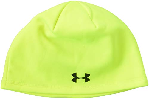 Under Armour Herren Outdoor Fleece Beanie, Herren, High-Vis Yellow/Black (Vis High Beanie)