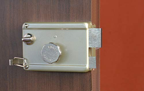 Europa Brass Inside Opening Night Latch Door Lock, 25 x 32 x 10.5 mm, Nickel Silk