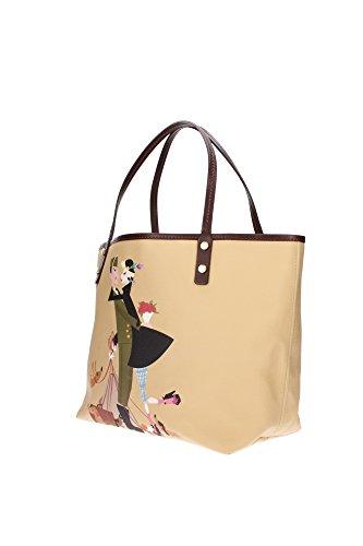 W13SP2032V3585130 Dsquared2 Sacs de shopping Femme Tissu Jaune Jaune