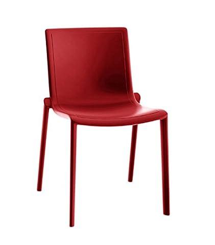 Resol chaise Kat - couleur rouge, set de 2 unités