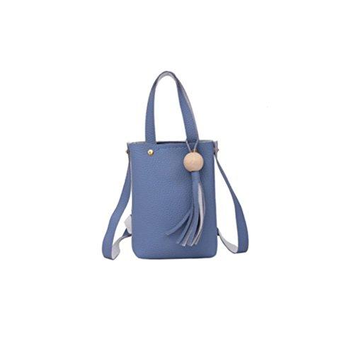 ESAILQ Mode en mesure Sac de téléphone portable Vintage Petit Femme Bandoulière Sac Messenger Tassel Sacs à bandoulière