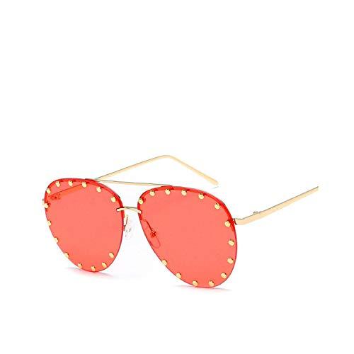 Sportbrillen, Angeln Golfbrille,Vintage Metal Sunglasses Women Men Fashion Eyewear Unisex Trendy Rivet Sun Glasses NEW High Quality Sunglasses UV400 04