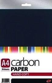 Handcopy, formato A4, carta in fibra di carbonio, colore: nero, 10 fogli - A4 In Fibra Di Carbonio
