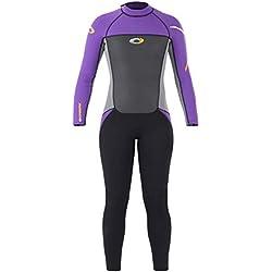 Osprey 3 mm Full Length Summer Wetsuit Origin Combinaison de plongée Femme, Violet/Noir, Medium Long