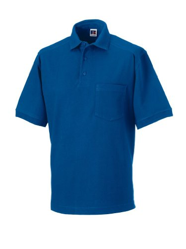 Russell Collection Strapazierfähiges Piqué Arbeits-Poloshirt R-011M-0 L,Bright Royal