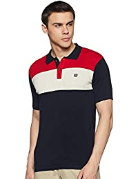 Byford By Pantaloons Men's Striped Slim fit T-Shirt