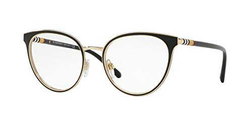 BURBERRY Damen 0BE 1324 1262 52 Sonnenbrille, Schwarz (Black/Light Gold) - Burberry Light