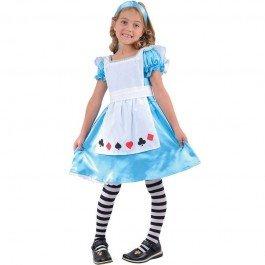 , mittel 5-7 Jahre. Kleid und Stirnband. 122-134cm Höhe. (Storybook Alice Kostüme)