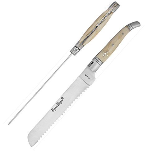 Laguiole 6333 Bougna Classic brotmesser White Buffalo Bone Handle. alle natürlichen Materialien - Bone Handle