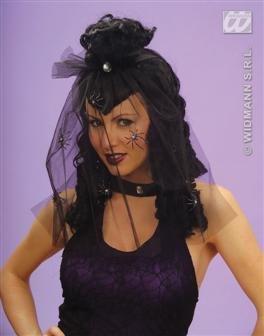 ir Mittelalter Barock Rokoko halloween horror schwarz wig (Gothic Perücke)