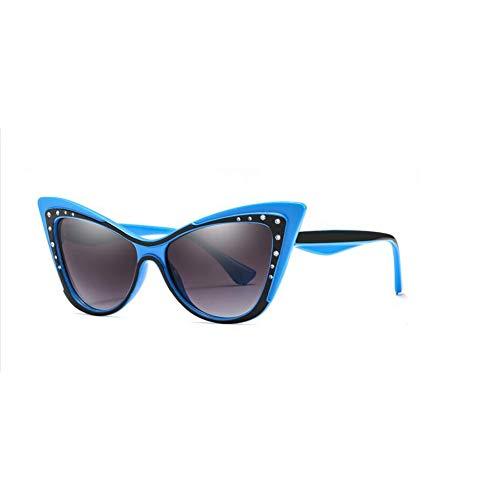 ZRTYJ Sonnenbrillen Mode Damen Sonnenbrille Luxusmarke Designer Cat Eye Sonnenbrille Trend Strass Sonnenbrille