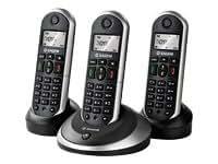Sagemcom D16T Trio Téléphone sans fil DECT/GAP + 2 Combinés supplémentaires Afficheur alphanumérique Identification de l'appelant Répertoire 30 contacts
