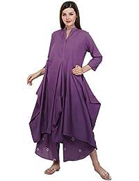 Mala Singh Zainaab Women's Kurta (Purple Ombre)