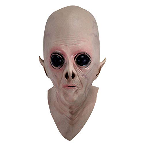 LEUM SHOP Halloween Scary Simulation Ekelhaft Vinyl Big Eyes Alien Mask Kostüm Party Cosplay Requisiten Flesh Color (Big Alien Kostüm)