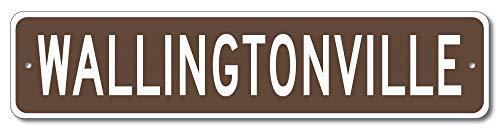 Aersing Targa Decorativa Wallingtonville Street Sign Wallington Family Nome Cognome Marrone novità Home Door Wall Decor Tin Sign
