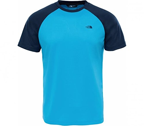 The North Face Men Raglan Tee T Shirt, Herren XL Blau (Asche blau) (Asche-raglan-t-shirt)
