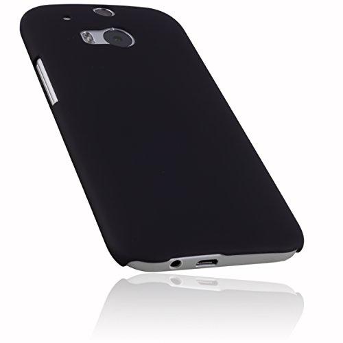 mumbi Schutzhülle für HTC One M8 / M8s Hülle (harte Rückseite) matt schwarz