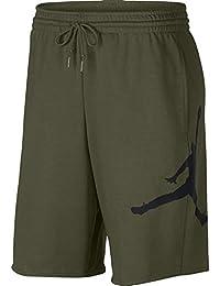 newest 38ce0 52bfa Nike Jumpman Air FLC Short - Pantalón Corto, Hombre, Multicolor(Olive  Canvas