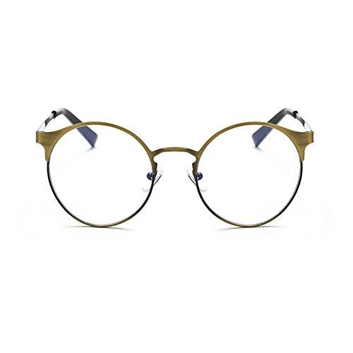 Fuyingda 2017 hat eine Persönlichkeit des Metalls Frame Brille, Anti-Blaulicht ohne Stärke Brillenmode Runde