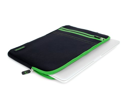 COOL BANANAS RainSuit Stripes Tasche passgenau für MacBook Pro 15 Zoll mit Retina Display | Sleeve | Hülle aus hochwertigem Neopren für perfekten Schutz | leicht zu reinigen | Farbe Grün (MacBook Retina 15, Grün) Samsung Stripe