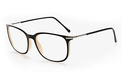 AdorabFrames Brille Unisex Brillengestell Full Frame flacher Spiegel Mode Hipster Brillengestell schwarzes Messgerät