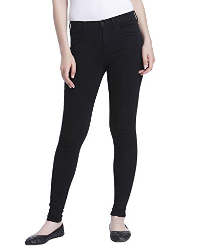 ONLY Damen Onlrain Reg Cry6060 Noos Skinny Jeans,Schwarz (Black Denim),S/L30