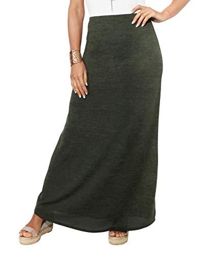 KRISP Jupe Femme Longue Taille Haute Trapèze Grandes Tailles Sexy Chic Pas Mode, Kaki (2968), 36 EU (08 UK), 2968-KHA-08