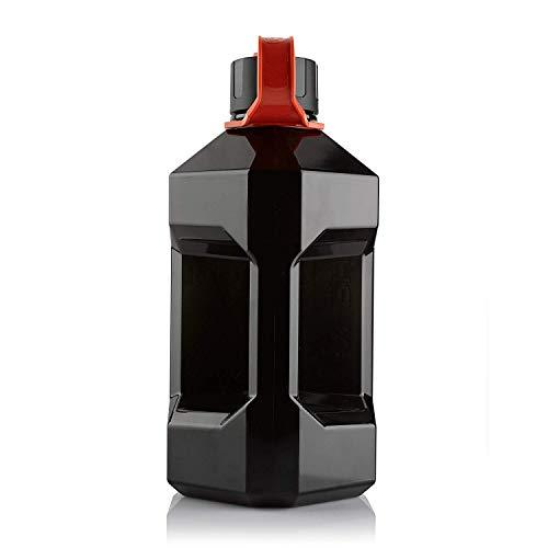 Alpha Bottiglia d'acqua, XXL, da2400ml, per palestra, senza BPA, Smoke / Red, 2400ml