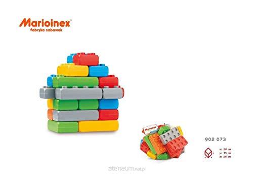 Marioinex 902073 Bausteine Junior Ziegel, 25 Stück im Netz, Mehrfarbig