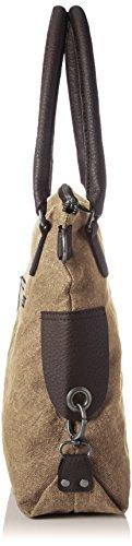 Bags4Less - Anker-mini, Borse a spalla Donna Marrone (Washed-braun)