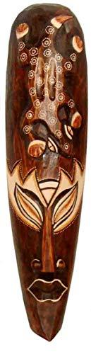 Maske zweifarbig 50 cm, Holz-Maske aus Bali, Wandmaske