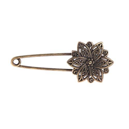 Kofun Brosche, Frauen Brosche Bronze Retro Vintage Alloy Sicherheitsnadeln Blumentaube Antik Messing Blume -