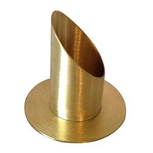 Kerzenhalter Messing matt D 4 cm - Handarbeit.