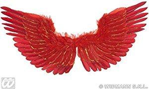 WIDMANN S.R.L., gefiederten Flügeln ROT MIT GOLD (Kostüm Gefiederte Flügel)