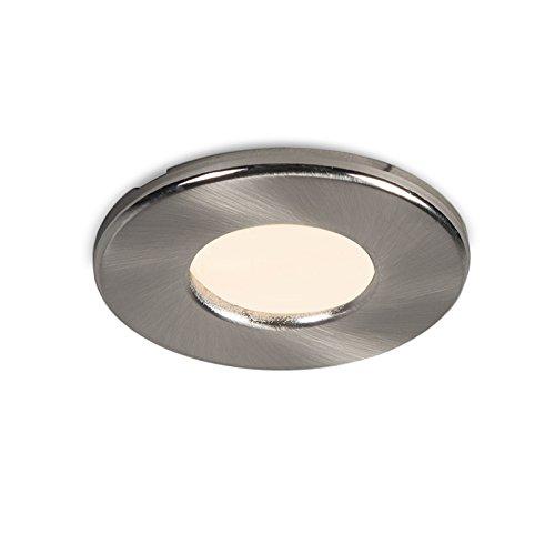 QAZQA Moderne Spot encastré/encastrable Hole acier inoxydable Aluminium/Verre / Rond Compatible pour LED GU10 Max. 1 x 50 Watt/Extérieur / Salle de bain/Jardin / Luminaire/Lumiere / Éclairag