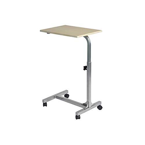 GAOYANG Laptoptisch, Nachttisch Beistelltisch, Tabletthalter, Medizinische Höhe Einstellbar Bettwäsche Tisch, Multifunktion Laptoptisch, Rolle, Holzfarbe (Größe: 67-79CM) (Farbe : Natürlich)