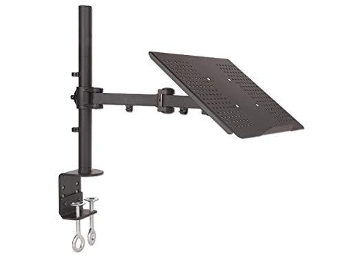 DRALL INSTRUMENTS Tischhalterung Halterung für Laptop Notebook Netbook Tablets Tisch Halterung Ständer in 3 Farben Modell: LT10VA, Farbe:Schwarz